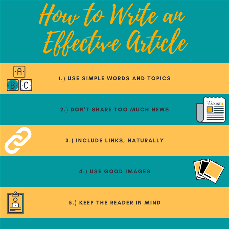 How to write an effective article