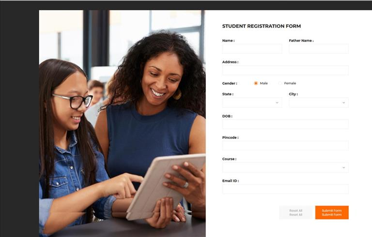 Online booking forms for education providers