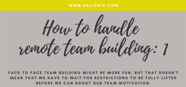How to handle remote team building
