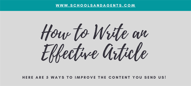 How To Write Articles