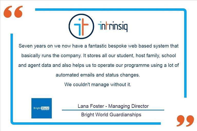Intrinsiq Testimonial from Bright World Guardianships, UK