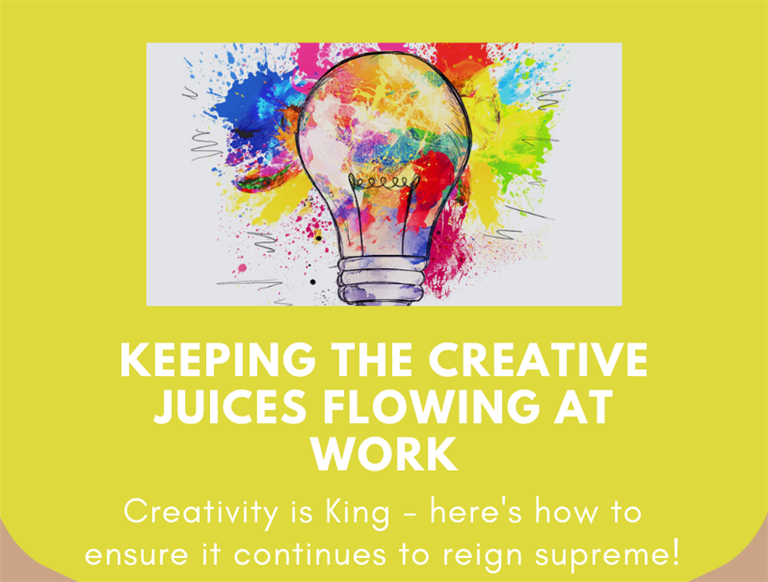 How to keep creativity flowing in the office