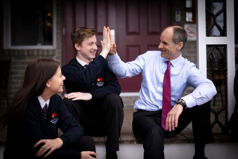 To new beginnings and bringing students to Canada and continue their education now without delay