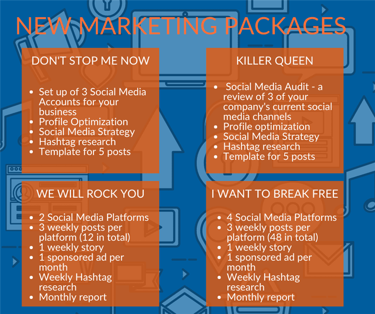 We are pleased to share with you Our New Marketing Packages