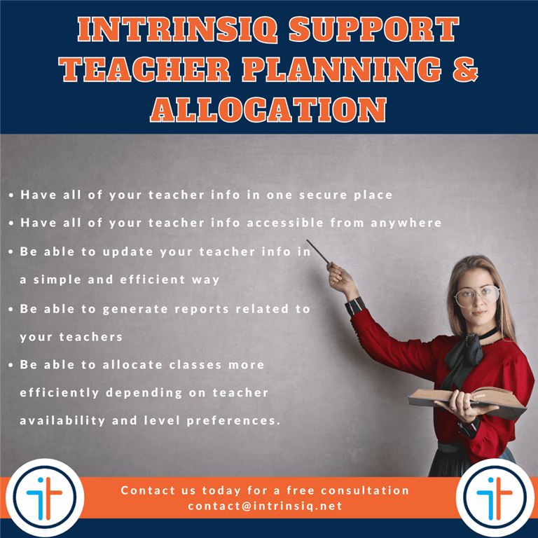 Teacher Planning and Allocation